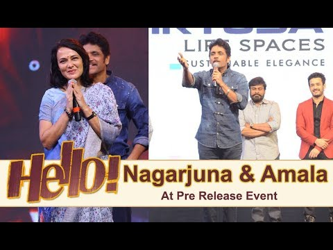 Nagarjuna and Amala At Hello Pre Release Event