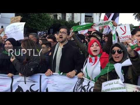 Algeria: Thousands protest against upcoming presidential vote in Algiers