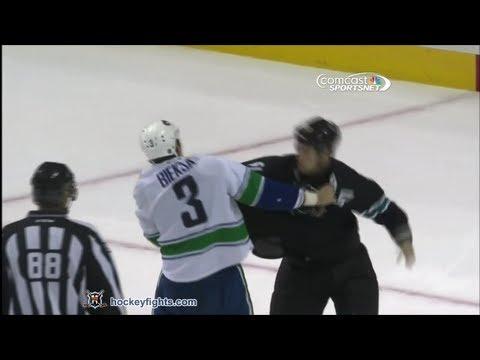 Kevin Bieksa vs Andrew Desjardins