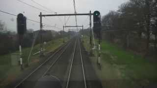 preview picture of video '[cabinerit] A train driver's view: Deventer - Amersfoort, ICM, 26-Nov-2104.'