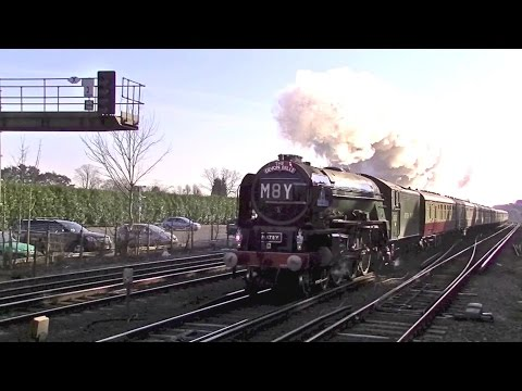 Tornado on the fast line through Brookwood 2nd April 2016