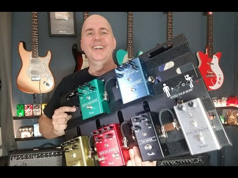My First Impressions Of ALL 6 Fender Pedals (Time Stamped)