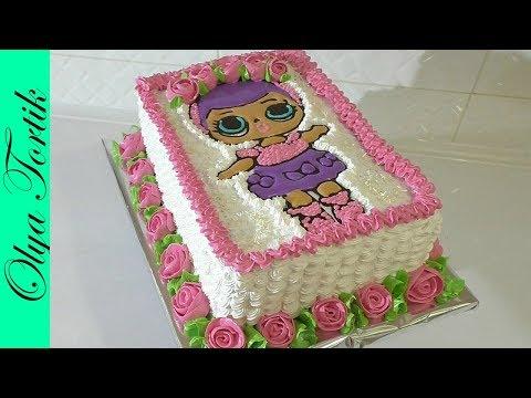 Как украсить торт в тематику Куклы Лол