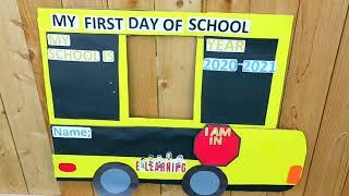 Back to School photo idea /DIY PHOTO FRAME FOR SCHOOL /SCHOOL PHOTO FRAME IDEA