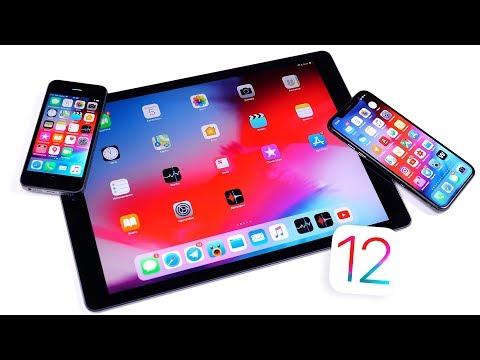 Смотрим iOS 12 Beta 1 на iPhone 5S, iPad Pro и iPhone X онлайн видео
