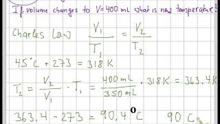 Chem 161 Chapter 5 Gas Law Worksheet - Select Answers