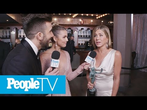Jennifer Aniston On Forgetting 'Morning Show' Cast During SAG Win | PeopleTV | Entertainment Weekly