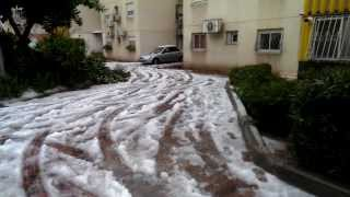 preview picture of video 'Winter Storm in Ramla, Israel @ December 2013'