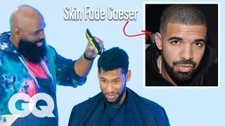 Drakes Skin Fade Caesar Haircut Recreated By A Master Barber | GQ