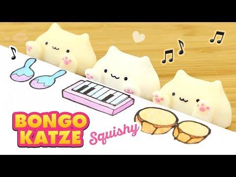 DIY SQUISHY Bongo Katze! SELBERMACHEN von Squishies mit Hitohada Gel!