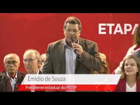 Emídio de Souza   VI Congresso Nacional do PT – Abertura da Etapa Paulista