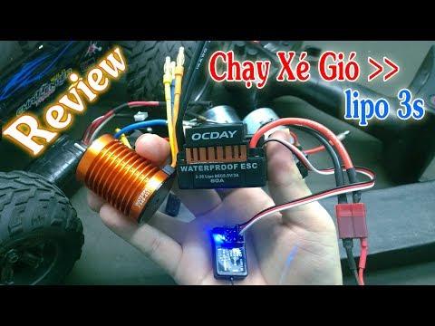 Review Test Motor 3 Pha Brushless 4370KV + ESC 60A Siêu Mạnh Cho Xe 1:10 RC