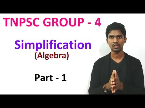 SIMPLIFICATION ALGEBRA PART 1 | TNPSC GROUP 4 | Mission 2 O