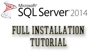 MS SQL Server 2014 Express Full Installation Tutorial