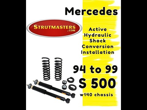 1996-1999 Mercedes S 500 With A Strutmasters Air Suspension Conversion (Rear Install Video)