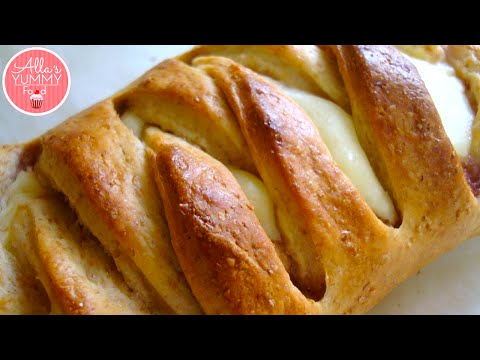 Download Cheese & Lemon Filled Sweet Braid Recipe | Плетенка с творогом HD Mp4 3GP Video and MP3