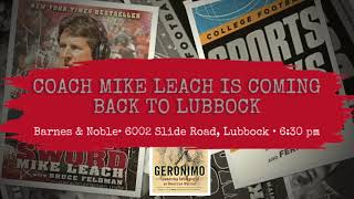 Meet up with former Tech Coach Mike Leach in Lubbock