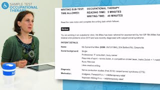 Complete guide to taking an OET Writing Occupational Therapy Sample Test