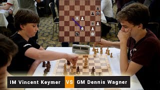 IM Vincent Keymer vs GM Dennis Wagner | Blitz Chess Game | Emanuel Lasker Memorial Blitz 2018