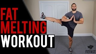 Fat Melting HIIT Workout | At Home Cardio Workout (NO EQUIPMENT by BarbarianBody