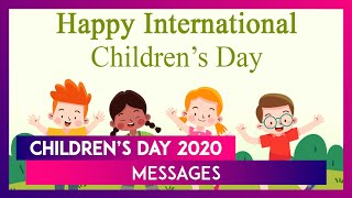 Childrens Day 2020 Messages: WhatsApp Wishes, Bal Diwas Greetings and Quotes to Celebrate This Day - Download this Video in MP3, M4A, WEBM, MP4, 3GP