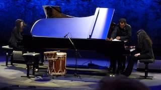 Les Soeurs Labeque - Mvt 1 Philip Glass 4 Mvts for 2 Pianos @ Theatre Jean Deschamps 10 Jul 14