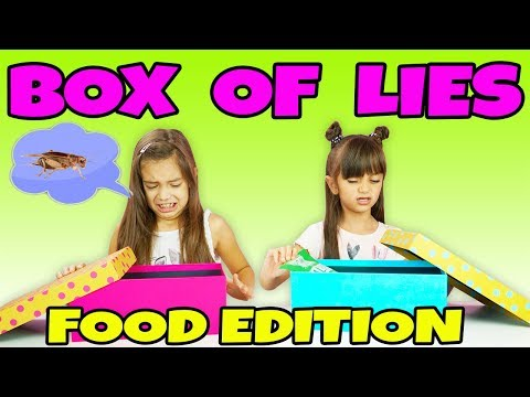BOX of LIES Weird Food Edition - Kids vs Food