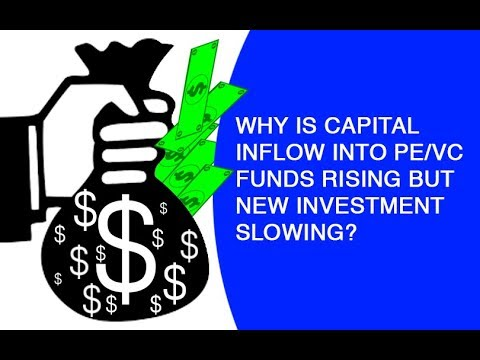 Why is capital inflow into PE/VC funds rising but new investment slowing?