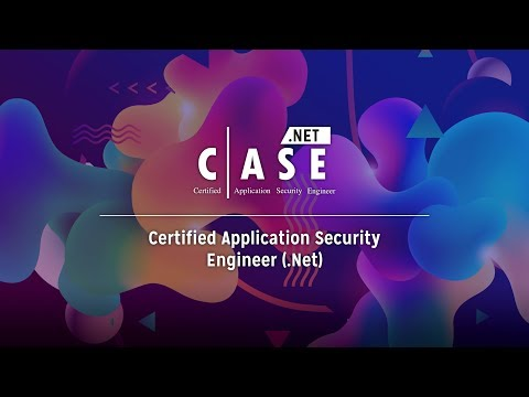 Certified Application Security Engineer (CASE) - .NET - YouTube
