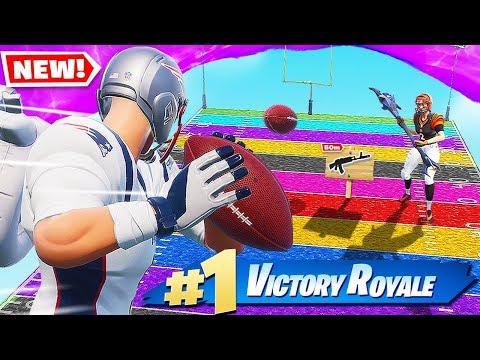 , title : 'Fortnite FOOTBALL of RARITY *NEW* Super Bowl GAME MODE In Fortnite Battle Royale'