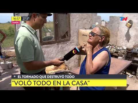 El tornado que destruyó una casa en Tandil