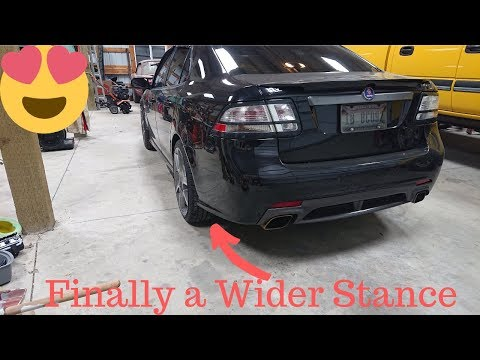 Wheel Spacer Install Saab 9-3 Turbo X