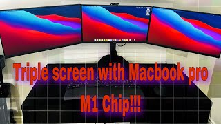 Dual , Triple or Multiple Monitor Screen setup (workaround) with Macbook M1 Chip 2020 [WORKING]