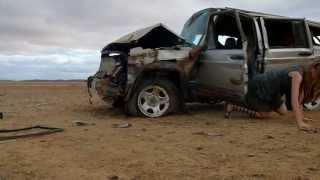 Road Train  Car Crash HD