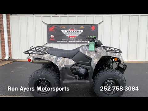 2019 Suzuki KingQuad 400ASi Camo in Greenville, North Carolina - Video 1