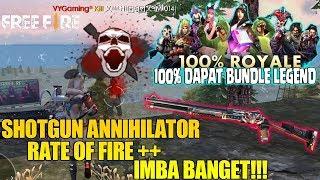 TEST SHOTGUN ANNIHILATOR BERASA PAKAI SMG! TEMBAKANNYA KENCENG BANGET!!! FREE FIRE
