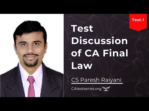 Video - CA Test Series