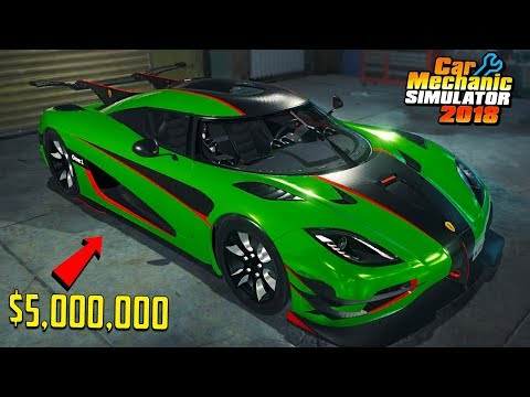 $5,000,000 CAR (Koenigsegg One) - Car Mechanic Simulator