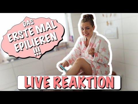 Mein ERSTES MAL....Beine epilieren ! | LIVE REAKTION | its_vanni_fit