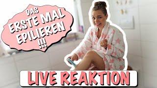 Mein ERSTES MAL ... Beine epilieren ! | LIVE REAKTION | its_vanniii
