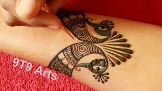 Step By Step Bridal Henna Mehndi Design | Easy Mehndi Designs | New Peacock Mehandi Design For Hands