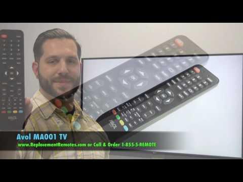AVOL MA001 TV Remote Control