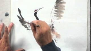 Painting A Japanese Crane With Lian Quan Zhen