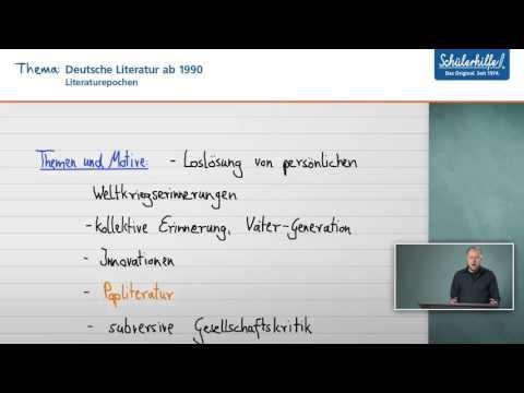 Deutsche Literatur ab 1990 // Literaturgeschichte // Deutsch // Schülerhilfe Lernvideo
