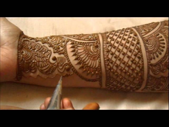 Video Full Hand Indian Mehndi Design How To Do Bridal Henna Mehendi Art