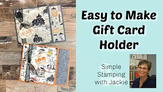 How To Make An Easy Gift Card Holder