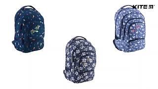 """Рюкзак молодежный Kite Style K18-881L-2 от компании Интернет-магазин """"Радуга"""" - школьные рюкзаки, канцтовары, творчество - видео"""
