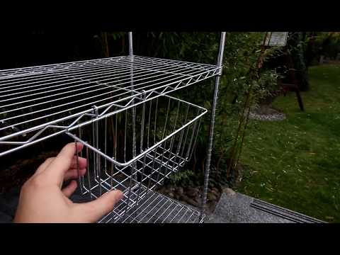 Unboxing Seelux Standregal Küchenregal Metallregal aus Verchromten Metall