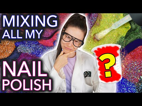 Download Mixing Every Nail Polish in My Brand Together (What Colour Will It Be?👀) HD Mp4 3GP Video and MP3