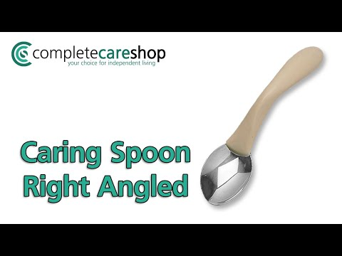 Caring Cutlery Right Handed Spoon - Minimise Wrist Movement